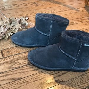 Bear Paw Gray New Booties Soft and Warm Cute